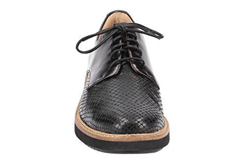 Lisa Cordones Piel 26120449 Negro 4 Clarks de Mujer con Zapatos wd0vwqIH