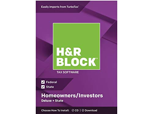 H&R BLOCK Tax Software Deluxe + State 2018 (Software Deluxe Tax)