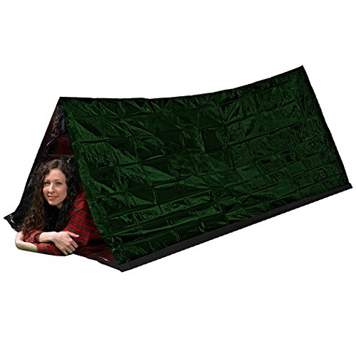 MYLATECH SURVIVAL XL Emergency Tube Tent (Olive Drab) | Bivvy Convertible For Maximum Heat Retention | Our Thermal Mylar is 95% + Heat Reflective and Tested By Service Members | (Cabelas Pack Liner)