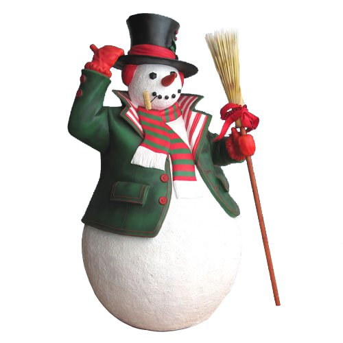 how to make a fiberglass snowman