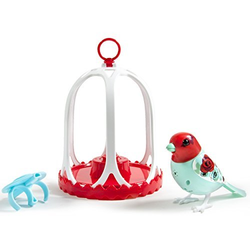 DigiBirds - Bird with Bird Cage - Rose by Digi Birds