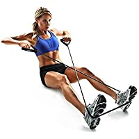 Home Fitness Exercise Pull Rope Tube Resistance Elastic Equipment Yoga Gym Bands Blue