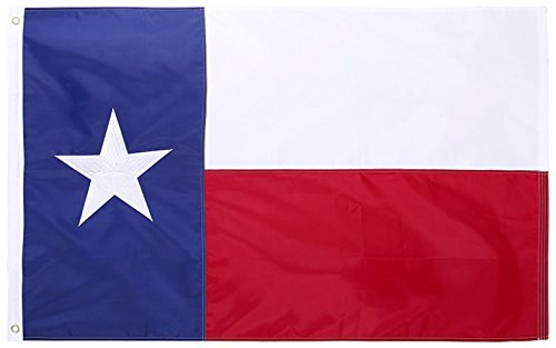 State of Texas 4×6 Feet Nylon Flag – Embroidered Oxford 210D Heavy Duty Nylon, Durable and Long Lasting – 4 Stitch Hemming. Vivid Colors & Fade Resistant. 4×6 Foot Texas Flag. By Cascade Point Flags