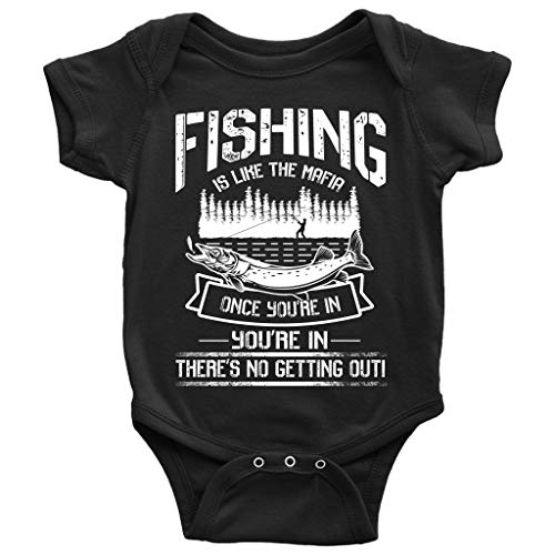 Go Fishing Baby Bodysuit, Like The Mafia Baby Bodysuit (6M, Baby Bodysuit - -