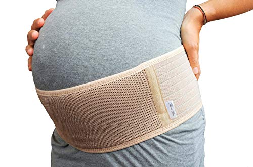 Maternity Belt, Breathable Belly Band, One Size, Beige