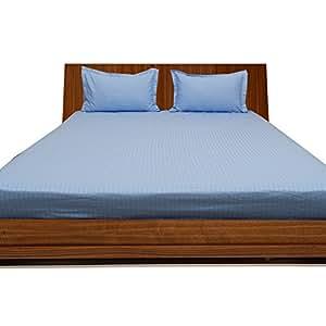 500TC Georgeous 3Spannbetttuch Streifen (Pocket Größe: 66cm), baumwolle, Light Blue Stripe, EU King Ikea