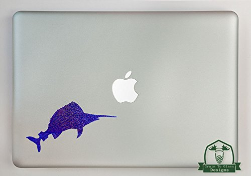 Sail Fish Specialty Vinyl Decal Sized To Fit A 13