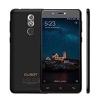 VICTSING Smartphone Android, Smartphone 3G CUBOT R9 Android 7.0, MT6580 Quad Core 1.3GHz, 2GB RAM 16GB ROM, Dual SIM, Batteria 2600mAh, Doppie Fotocamere 5MP+13MP, Sensore d'Impronta Digitale, Nero