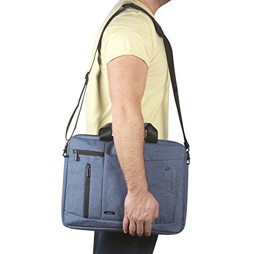 tiratti Soft Nylon Laptop Tragetasche 15,6inchharvest blau Farbe mit weich gepolsterter Schultergurt, eingebauter Organizer, extra Seitentaschen & abnehmbarem Griff, für Notebooks, 33,8cm MacBook Ai grün