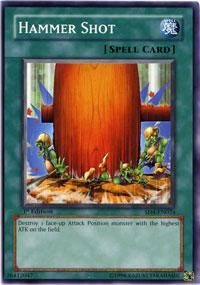 Yu-Gi-Oh! - Hammer Shot SD4 (SD4-EN024) - Structure Deck 4: Fury from the Deep - 1st Edition - Common