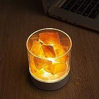 Luz De Sal De Cristal del Himalaya/USB Recargable Colorida Luz De ...