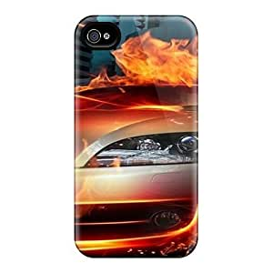 Flexible Tpu Back Case Cover For Iphone 4/4s - Auto 10