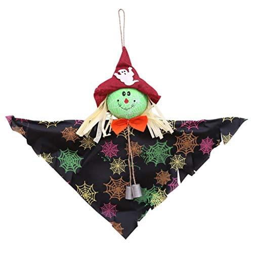 New Halloween Bell Pendant Ornaments Halloween Sunny Doll Decor Black -