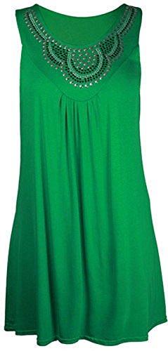 Yes Gameon - Camiseta sin mangas - para mujer Verde