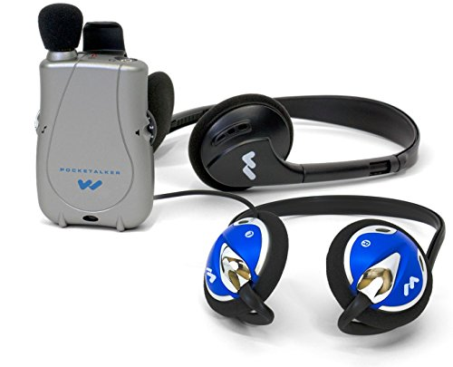 PockeTalker Ultra w/ Headphone & FREE Behind the Head Headphones by Williams Sound