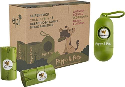 Peppo and Pets- 240 Bolsas biodegradables para excrementos de ...