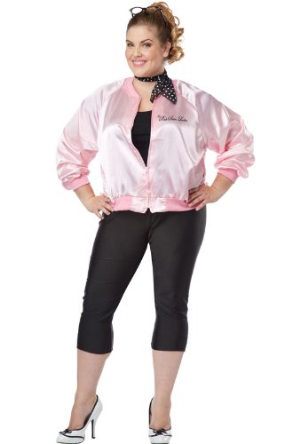 The Pink Satin Ladies Plus Costumes (California Costumes Women's Plus-Size The Pink Satin Ladies Plus, Pink, 1X)