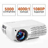 Best Tv Projectors - Crenova Video Projector, 5000 Lux Home Movie Projector Review