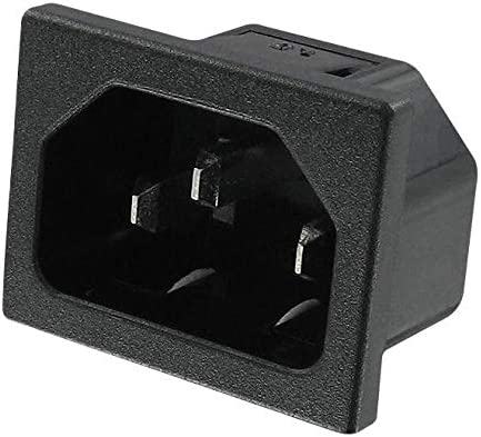 Plug 0.250 QD 15 A 701W Series 250 VAC Quick Connect, Panel Mount 701W-15//31 Power Entry Connector Pack of 20