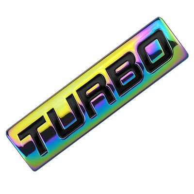 Neo Chrome/Black Metal Turbo Engine Motor Swap Emblem Badge For Trunk Door for Toyota Supra