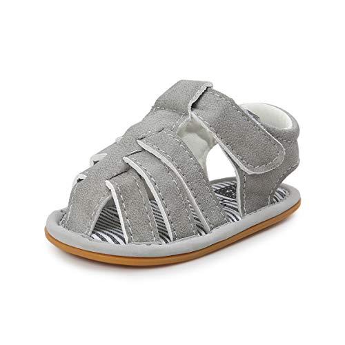 44d023c13602e Baby Boys Girls Summer Sandals Closed-Toe Outdoor Soft Sole Anti-Slip  Toddler First Walker Infant Newborn Crib Shoes (6-12 Months M US Infant,  A-Light ...