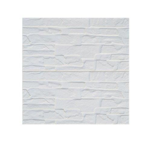 60 * 60cm Weiß 3D Ziegel Wandaufkleber Selbstklebend Panel Abziehbild Tapete - 02, Style 10