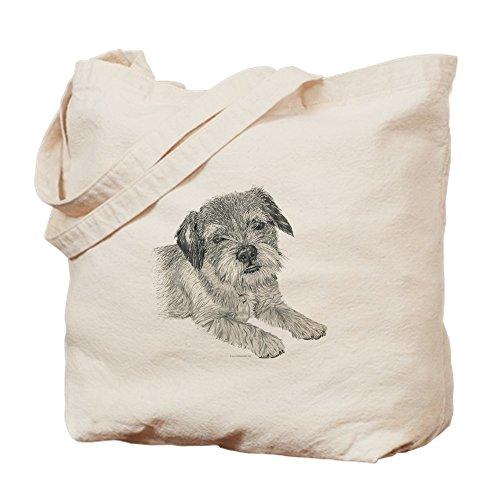 CafePress Border Terrier Natural Canvas Tote Bag, Cloth Shopping ()