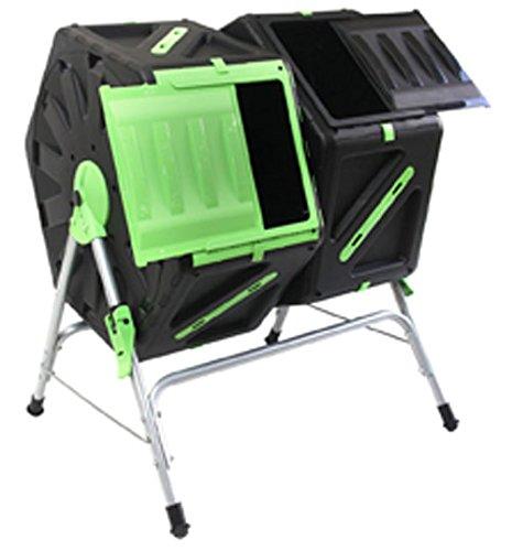 Good Ideas TMK-01577 - Compostiera rotante per rifiuti compostabili, 2 scomparti, 140 litri (2x 70 litri)