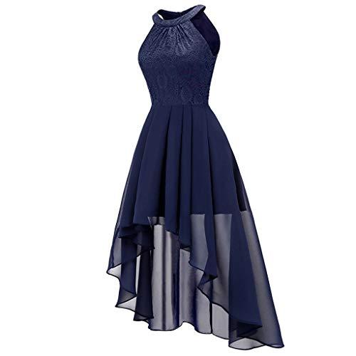 Women's Sexy Halter Sleeveless Dress Party Dresses Slim Irregular Skirt Long Dress Prom Dresses Prom Dresses Blue