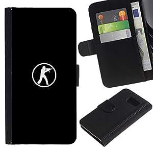 All Phone Most Case / Oferta Especial Cáscara Funda de cuero Monedero Cubierta de proteccion Caso / Wallet Case for Samsung Galaxy S6 // Computer Game Go Fps Shooter