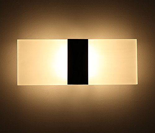 Geekercity Modern Acrylic 6w Led Bedroom Wall Lamps