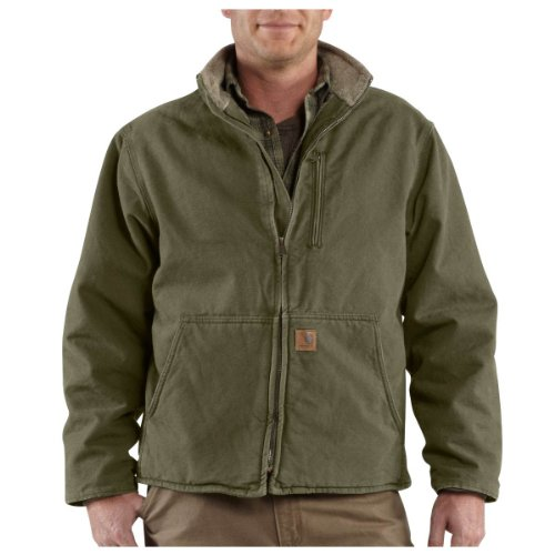 Carhartt Men's Big & Tall Sandstone Muskegon Jacket,Army Green  (Closeout),XXX-Large from Carhartt