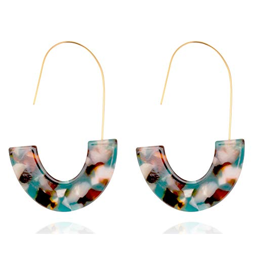 Price comparison product image Fashion Earrings for Women Tortoise Shell Earrings Resin Acrylic Earrings Hoop Drop Earrings For Women