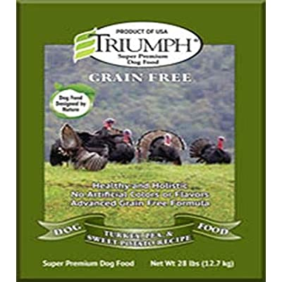 Triumph Grain-Free Turkey, Pea And Sweet Potato Dog Food, 28 Lb. Bag