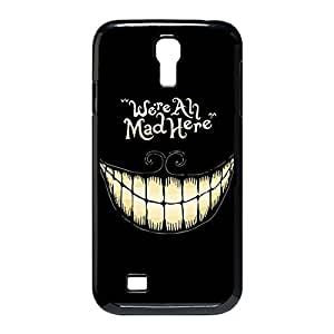 Custom Personalized Damage Proof Back Case Cover with Cheshire Cat Quotes We Are All Mad Here for Samsung Galaxy S4 I9500 -Black030912