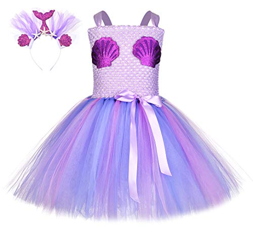 Best Handmade Costumes (Mermaid Handmade Tutu Birthday Costume Ocean Themed Party Halloween Girl 1-8year)
