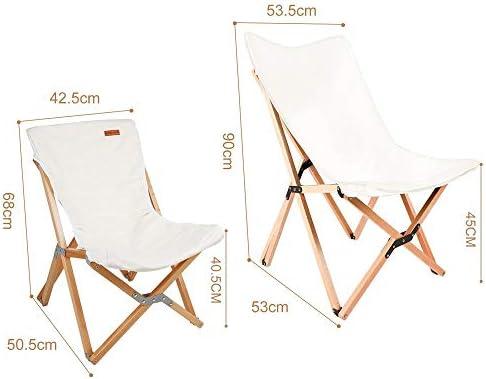 Extérieur en Bois massif Papillon Chaise Paresseux Jardin Balcon Chaise de Pêche Tissu Pause Déjeuner Chaise INS Wind Toile Chaise