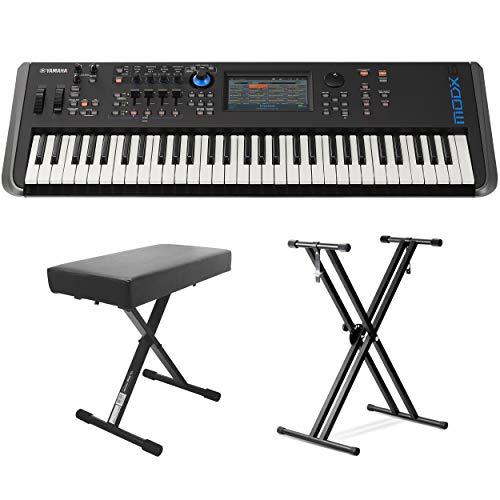 Yamaha MODX6 61-Key Synthesizer (With Keyboard Stand & Bench)