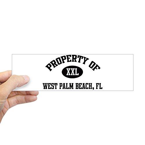 CafePress - Property Of West Palm Beach Bumper Sticker - 10