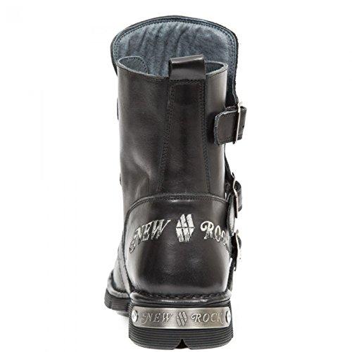 New Rock Støvler M.1498-c1 Gotisk Hardrock Punk Unisex Stiefel Sort cTs7z7Rx