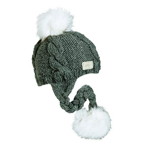Turtle Fur Lifestyle - Lauren Hand Knit Pom Beanie Charcoal ()