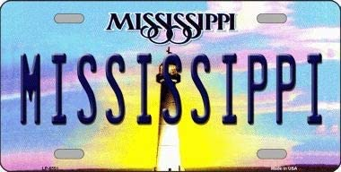 With Sticky Notes Bargain World Mississippi Novelty Metal License Plate