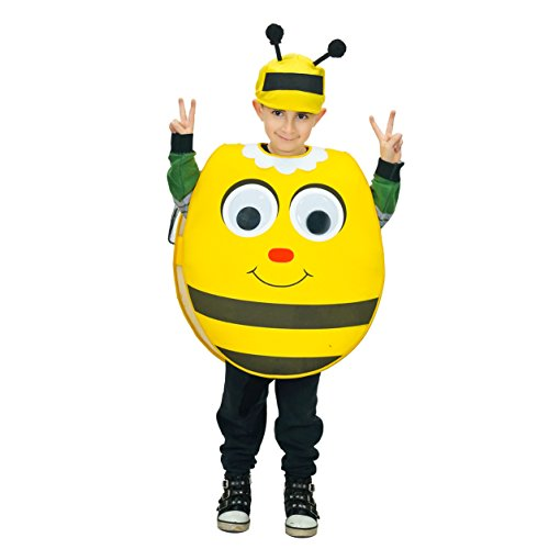 flatwhite Cute Animal Costume for Kids One Size Fits 4-9Y (One Size, Bee) ()