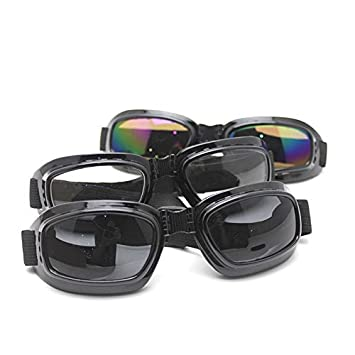 fe1bf3e95c8 HuntGold Outdoor Cycling MTB Motorcycle Padded Foldable Black Frame  Sunglasses Goggles(Lens Color  gray)  Amazon.co.uk  Sports   Outdoors