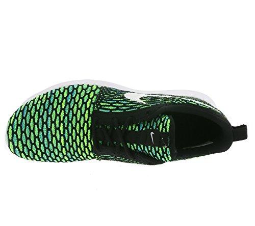 Homme Gymnastique Black Men's Nike Orange Nero Roshe Volt White Total Bianco Di volt verde Flyknit de Shoe Black Tensione Chaussures Nm z8p80F