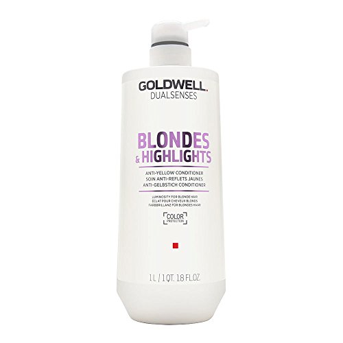 Goldwell Dual Senses Blondes & Highlights Anti-Yellow Conditioner (Luminosity For Blonde Hair) 1000ml/33.8oz (Shampoo Blonde Goldwell)