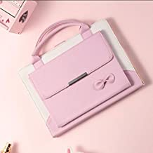 amhello Lovely Handbag PU Leather Magnetic Smart Cases Cover with Auto Sleep and Wake for iPad Air 1st/Air 2/Pro 9.7/New iPad 9.7 2017 Released - Baby Pink