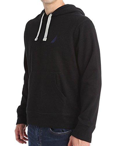 Nautica Men's Pullover Hoodie True Black Sweatshirt LG