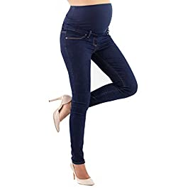 Milano Basic – Maternity Jeggings Slim Fit, Over The Bump Jean, Power Stretch Fabric – Made in Italy