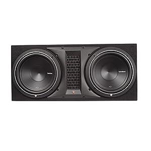 "Rockford Fosgate P1-2X12 12"" 1000W Dual Subwoofer + Box + 3000W Amp + Amp Kit"